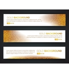 Gold sale banner set vector