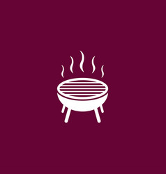 Grill icon simple bbq vector