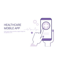 healthcare mobile application business concept vector image vector image