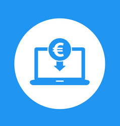 internet banking payment in euro icon vector image