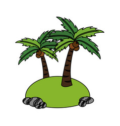 isolated island icon image vector image vector image