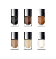 Nail polish packaging package bottle for manicure vector