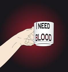 Need blood halloween vector