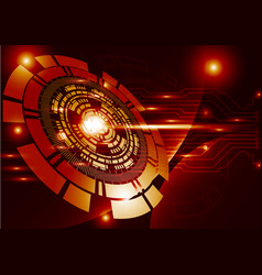 Orange technology background abstract digital vector