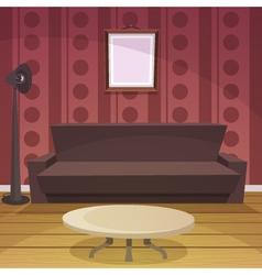 Retro Room - Red vector image