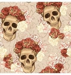 Seamless skull pattern vector