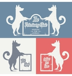 set sign dog vector image vector image
