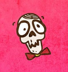 Skull with a Bowtie Cartoon vector image vector image