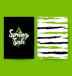 Spring sale green poster vector