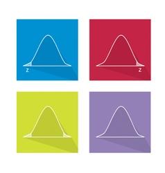 Standard normal distribution curve chart vector