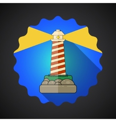 Travel Lighthouse flat icon vector image vector image