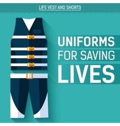 Uniform for saving lives icon vector