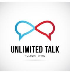 Unlimited talk concept symbol icon or logo vector