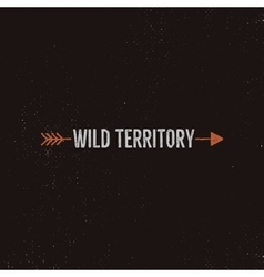 Vintage wild emblem and sticker typography and vector