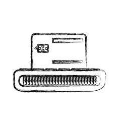 Voucher electronic machine icon vector
