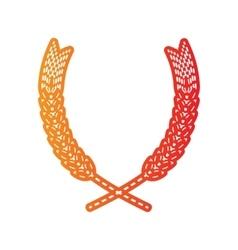 Wheat sign orange applique isolated vector