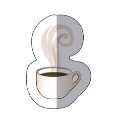white coffee cup with steam vector image