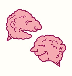 Two brains vector