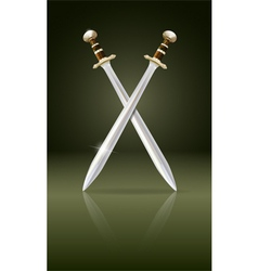 swords vector image