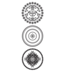 Decorative circles vector