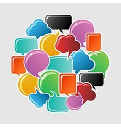 Social bubbles speech vector image