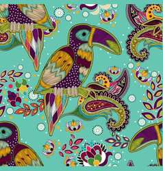 Bright seamless pattern tropical backdrop with vector