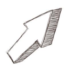 arrow signal cartoon vector image