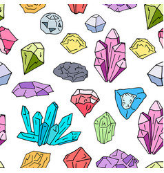 gems pattern 2 vector image