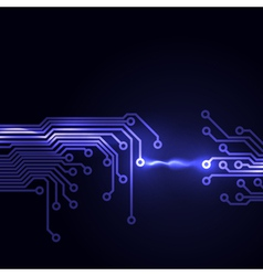 Abstract dark background with a circuit board vector