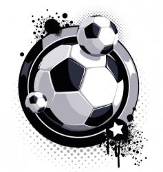 grunge soccer ball design vector image