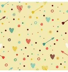Festive colorful seamless pattern with heart and vector