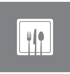 white square plate vector image