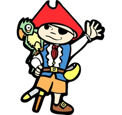 Boy in pirate costume 1 vector