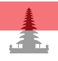 Flag and symbols of indonesia vector