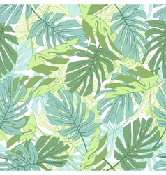Tropical palm leaves vector