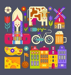 Holland symbols vector