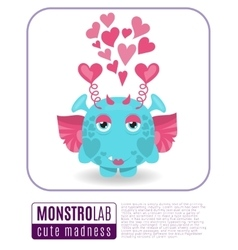 a love monster vector image