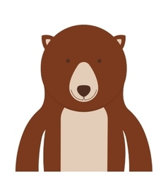 Bear animal icon vector