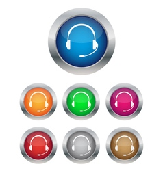 call center buttons vector image vector image