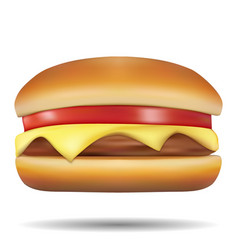 Classic burgers on white background vector
