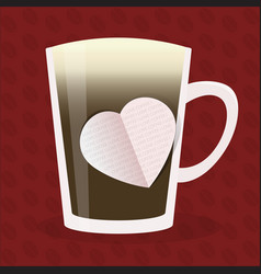 coffee love design vector image