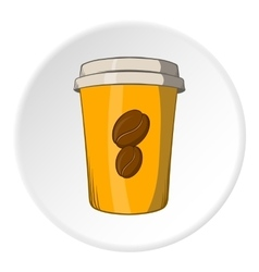 Cup of coffee icon cartoon style vector image vector image