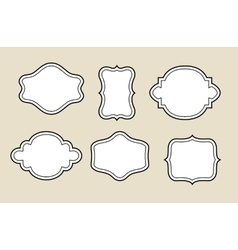 decorative blank frame vector image