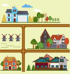 flat countryside map concept vector image
