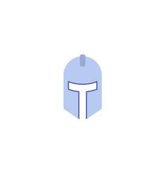 flat icon knight helmet element vector image