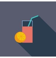 Fruit juice icon vector