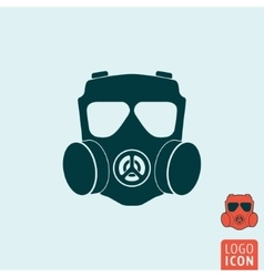 Gas mask icon isolated vector