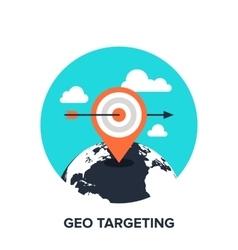 geo targeting flat concept vector image vector image