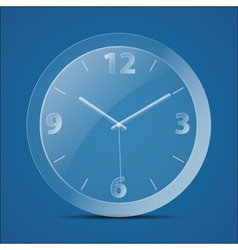Glass clock vector image vector image