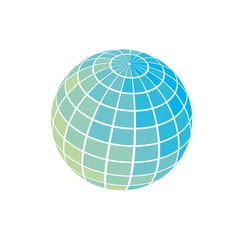 globe icon world earth simple symbol vector image